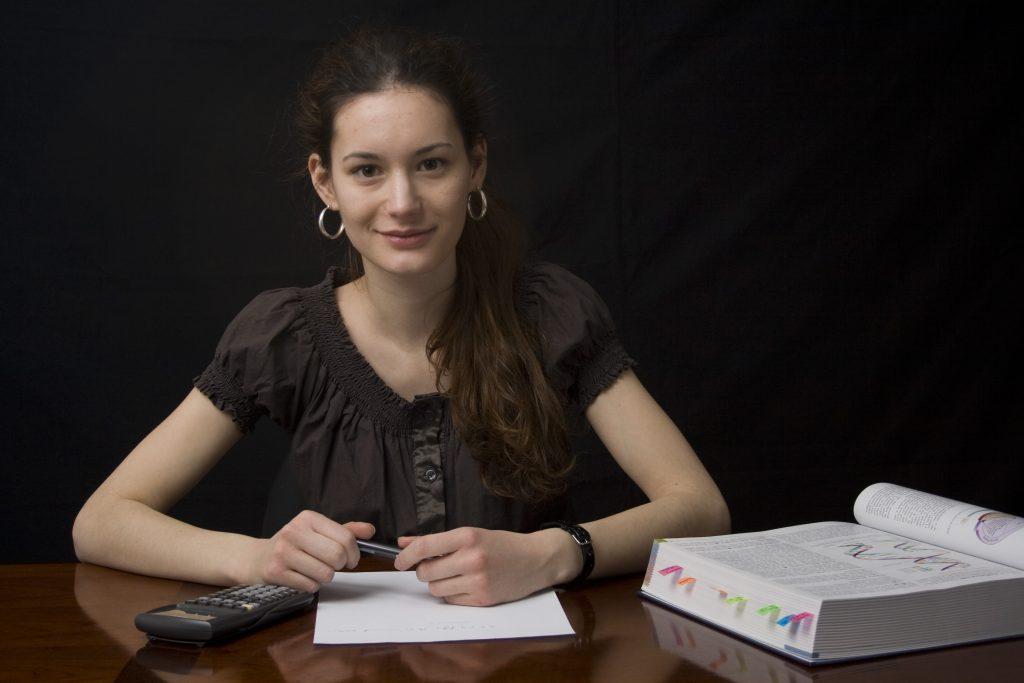 étudiante souriante